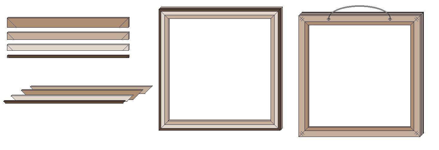 anleitung selbstgebauter bilderrahmen als geschenk. Black Bedroom Furniture Sets. Home Design Ideas
